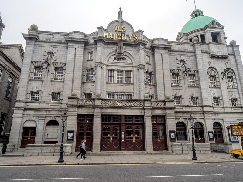 Seu teatro do ` s da majestade, Aberdeen foto de stock royalty free