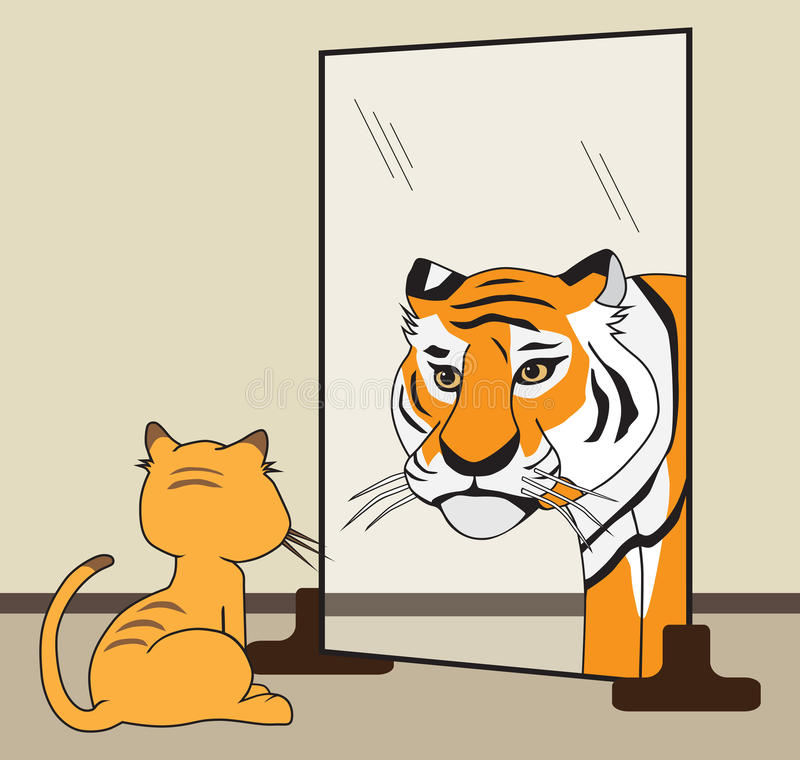 Seu tigre interno ilustração royalty free