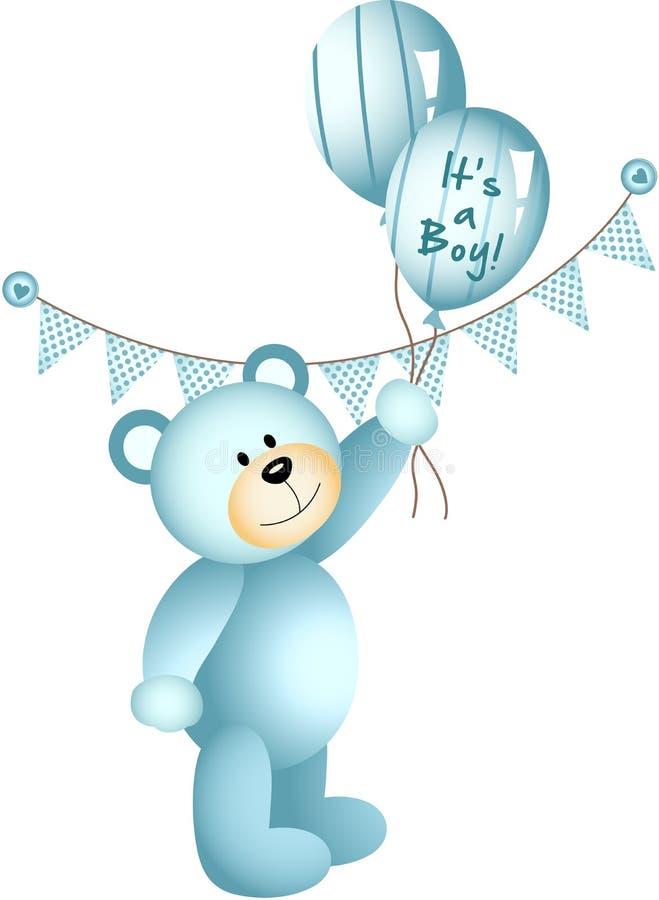 Seu um menino Teddy Bear ilustração royalty free
