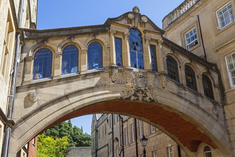 Seufzerbrücke in Oxford lizenzfreies stockbild