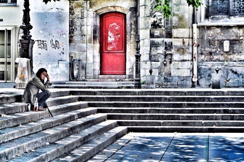 Seul à Paris photos libres de droits