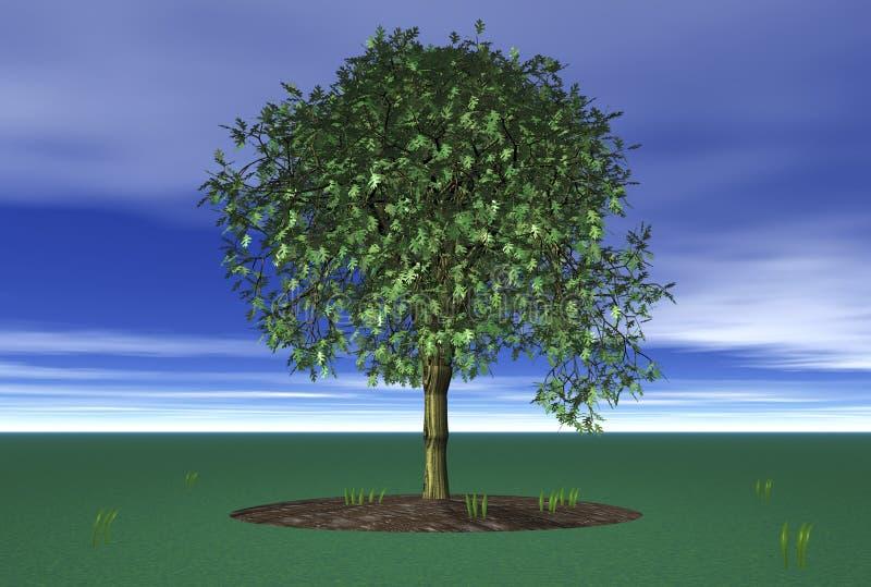seul arbre 3D illustration stock
