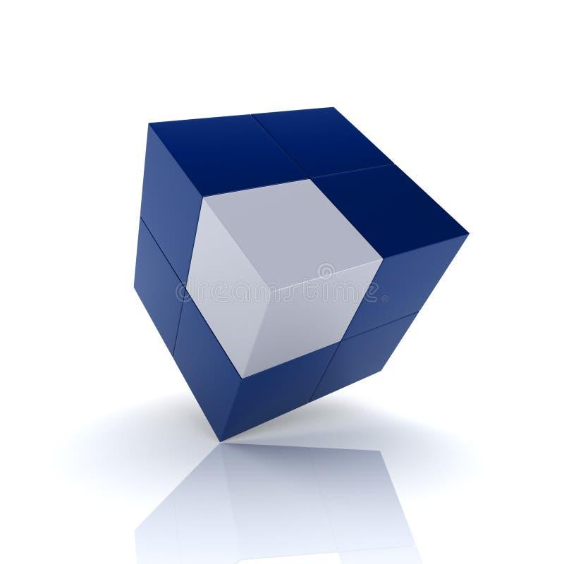 Seul cube illustration stock