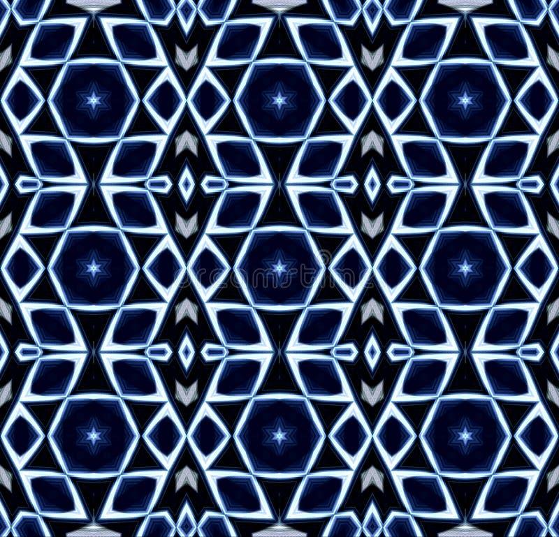 Seul fond abstrait Conception de ` d'auteur Couleurs bleues et blanches illustration de vecteur