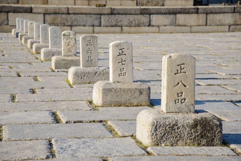 SEUL KOREA, WRZESIEŃ, - 20, 2014: Pumkyeseok w Changdeokgung zdjęcie royalty free