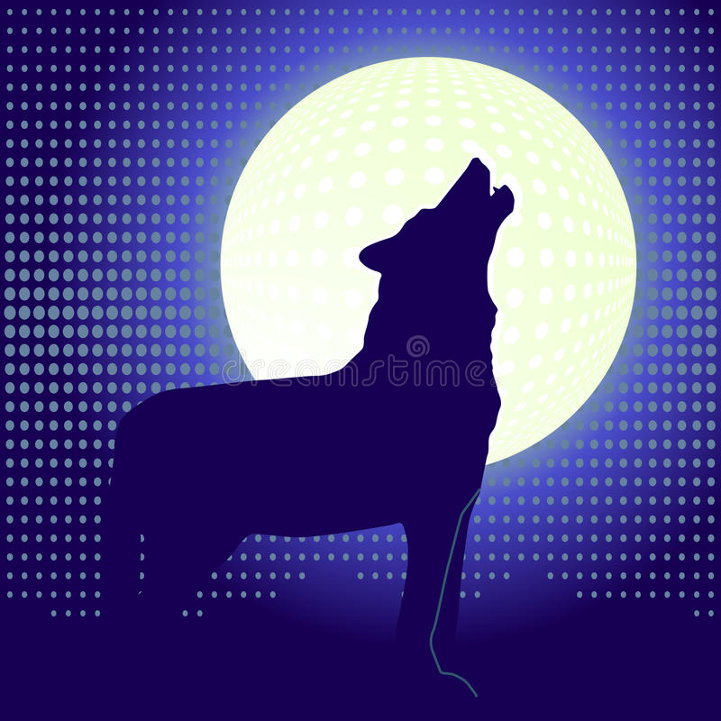 Seul loup illustration stock