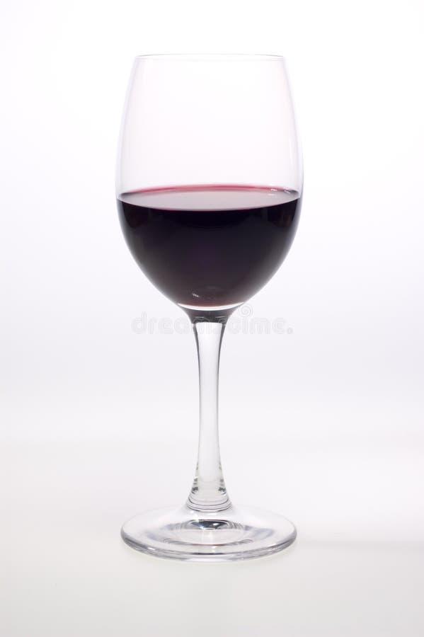 Seule glace de vin rouge photographie stock libre de droits