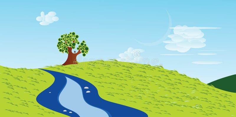Seule illustration d'arbre illustration libre de droits