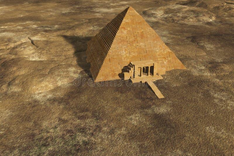 Seule pyramide égyptienne illustration libre de droits