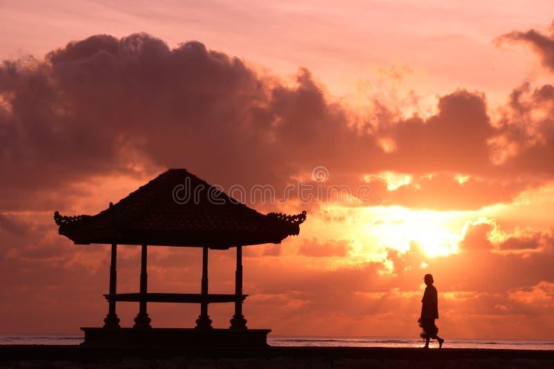 Seulement au lever de soleil photographie stock libre de droits