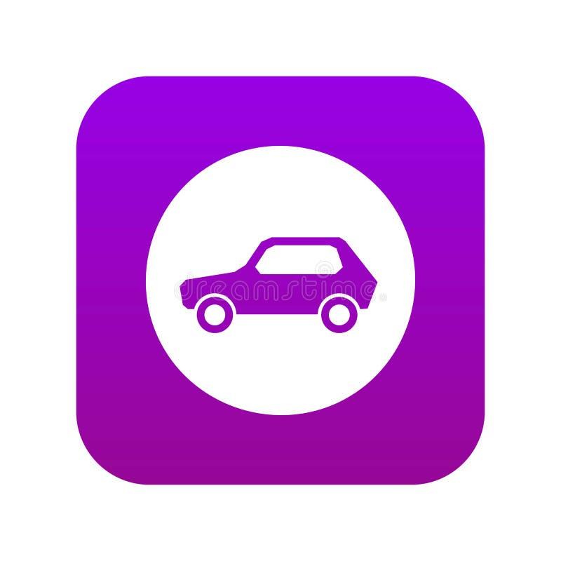 Seulement véhicules à moteur permis le pourpre numérique d'icône de panneau routier illustration stock