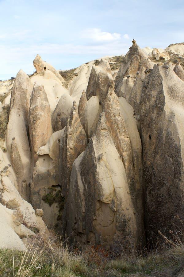 Seules formations de roche dans Cappadocia, Turquie images libres de droits