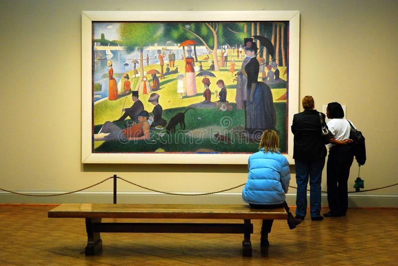 Seurat at the Art Institute of Chicago stock image