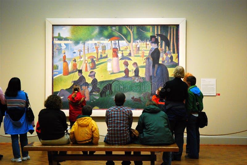 Seurat på Chicago Art Institute royaltyfri bild