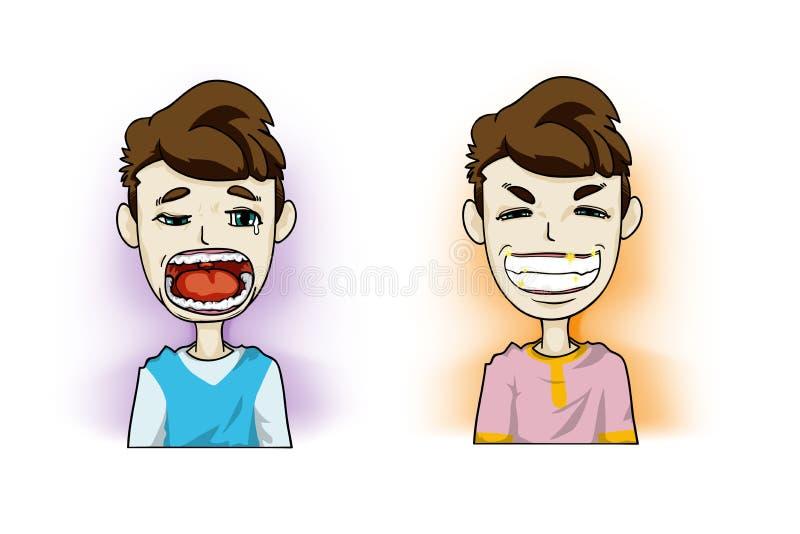 Seus dentes ilustração royalty free