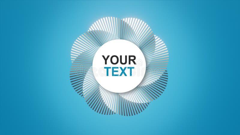 Seus texto/logotipo em uma espiral abstrata ilustração stock