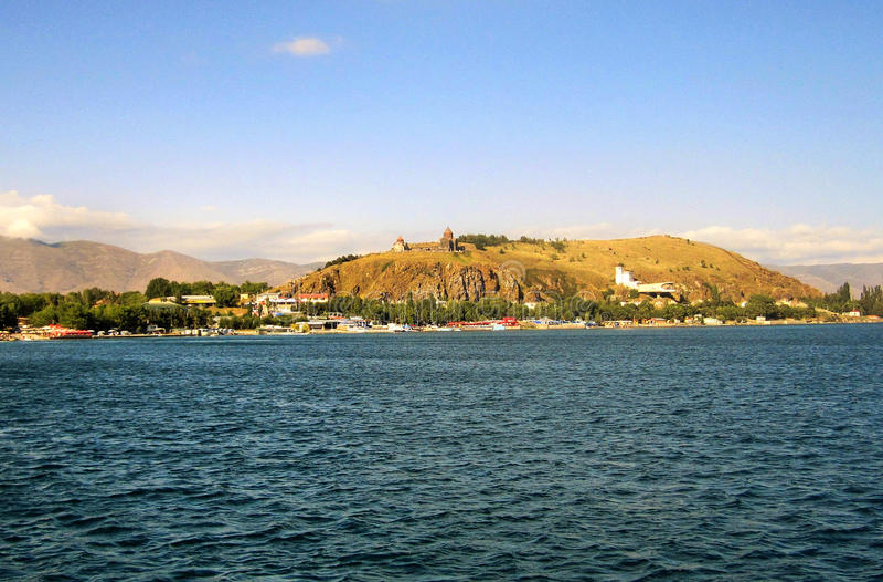 Sevaneiland van Meer Sevan royalty-vrije stock foto