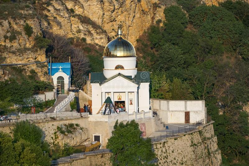 Monastery of St. George on Fiolent cape near Sevastopol. Crimea. Sevastopol, Crimea-June 14, 2015: Monastery of St George on Fiolent cape royalty free stock photos