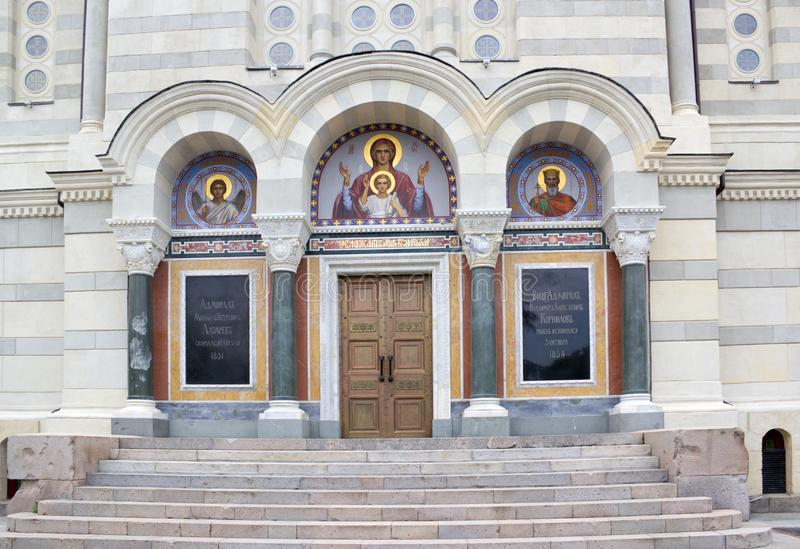 St. Vladimir`s Cathedral is an Orthodox church in Sevastopol royalty free stock photos