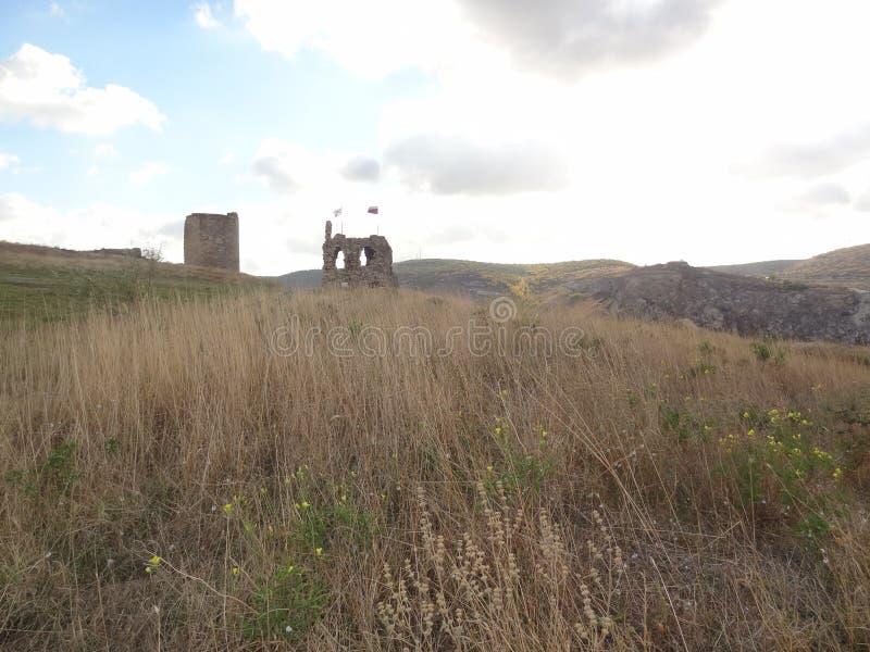 Sevastopol, distrito de Inkerman Fortaleza de Kalamita fotografia de stock