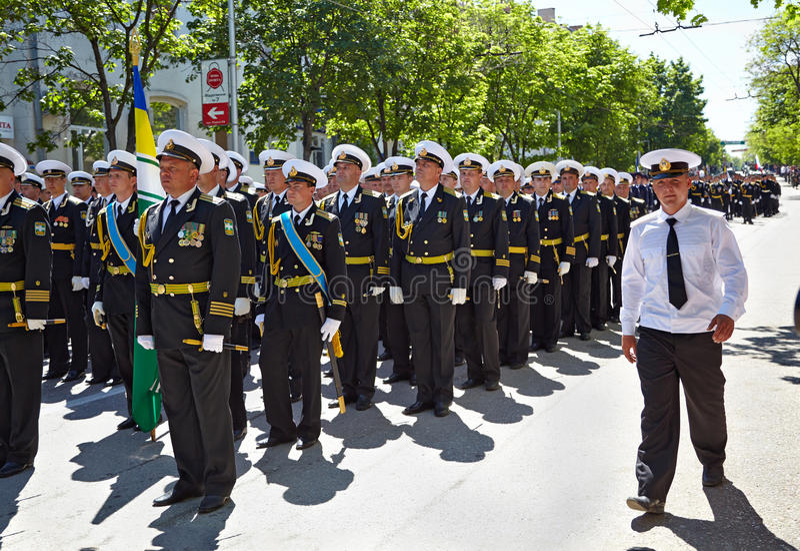 SEVASTOPOL, UKRAINE -- MAY 9: Victory Parade stock image