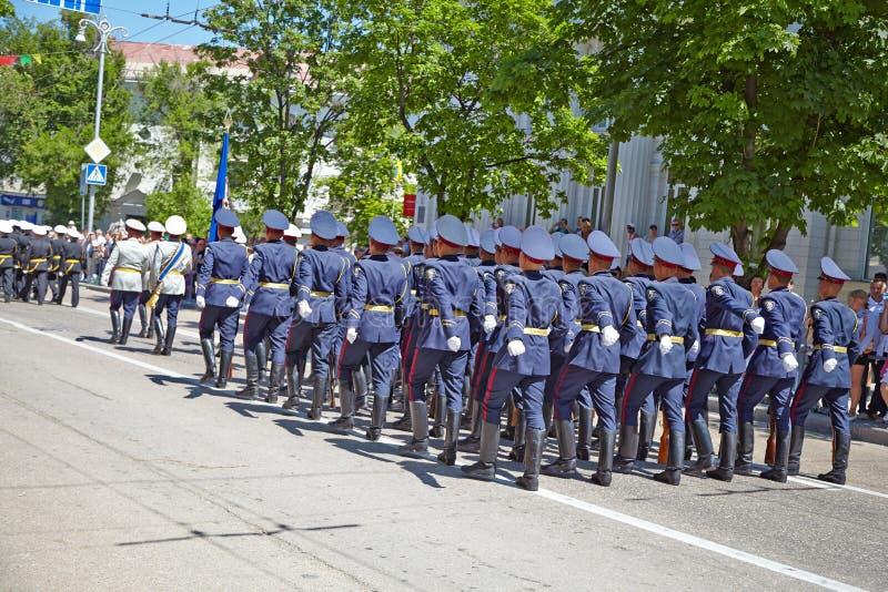 SEVASTOPOL, UKRAINE -- MAY 9: Victory Parade. royalty free stock photos