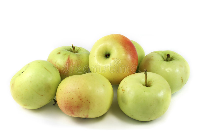 Seven apples stock photos