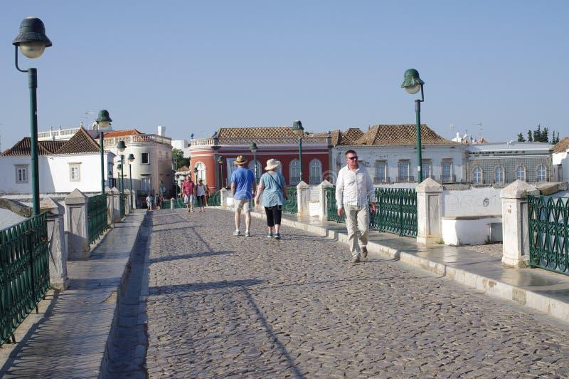 Bridge Ponte Romana in Tavira in Portugal royalty free stock photo