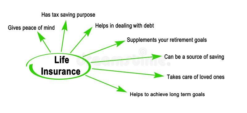 Benefits of Life Insurance. Seven Benefits of Life Insurance royalty free illustration