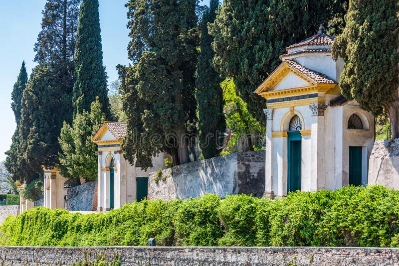 Seven churches sanctuary in Monselice royalty free stock photos
