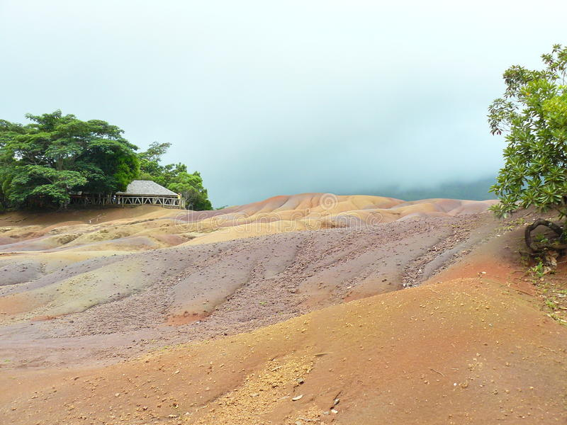 Seven color Land Mauritius royalty free stock photography