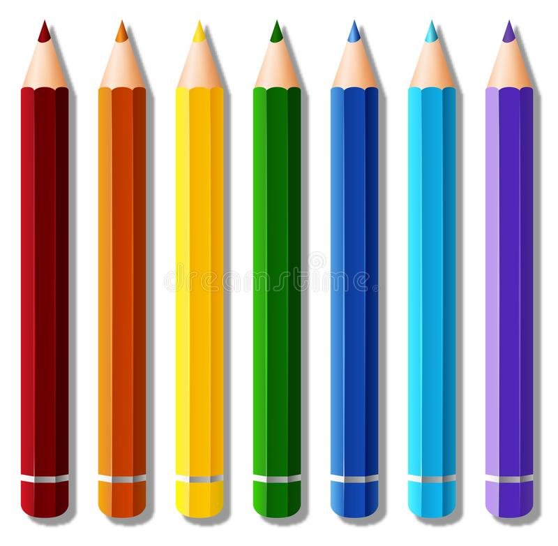 Seven Color Pencils Stock Illustrations - 62 Seven Color ...