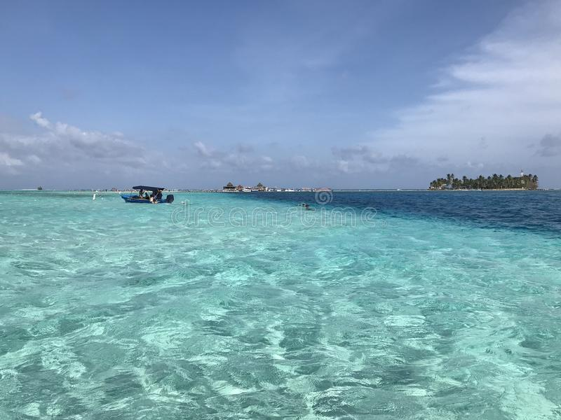 Seven colors sea. San Andres Island, Colombia stock image