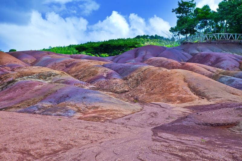Seven Coloured Earth on Chamarel, most popular Mauritius tourist spot, Africa stock photos