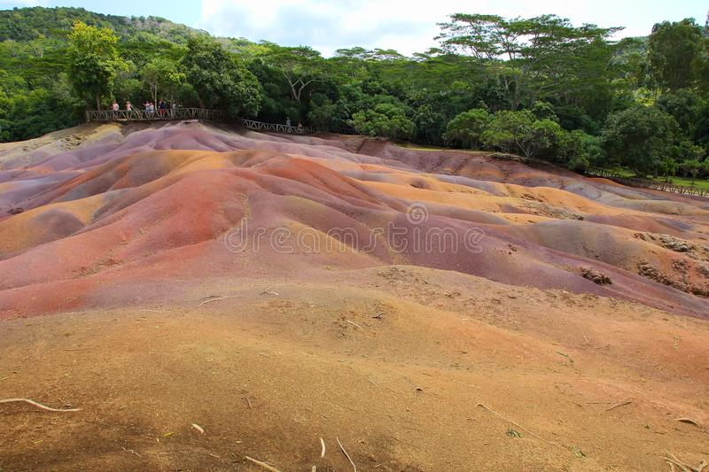 Seven Coloured Earths Chamarel Mauritius royalty free stock photo