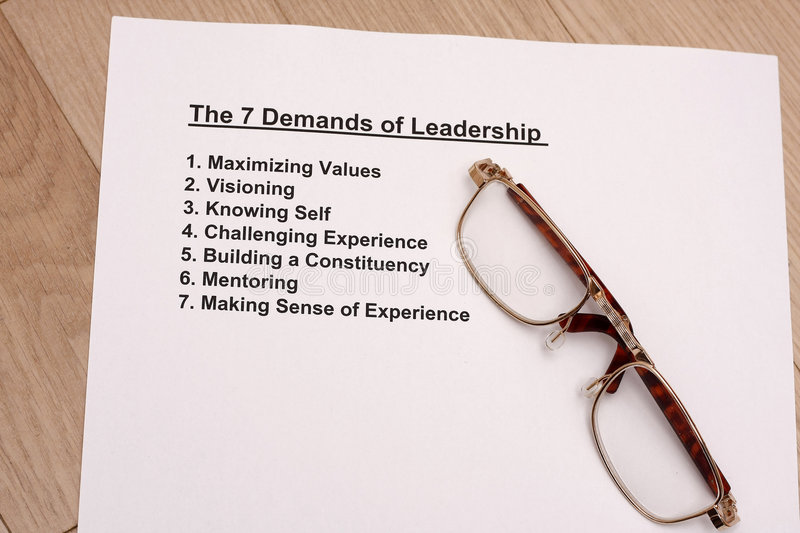 Seven demands of leadership royalty free stock photography