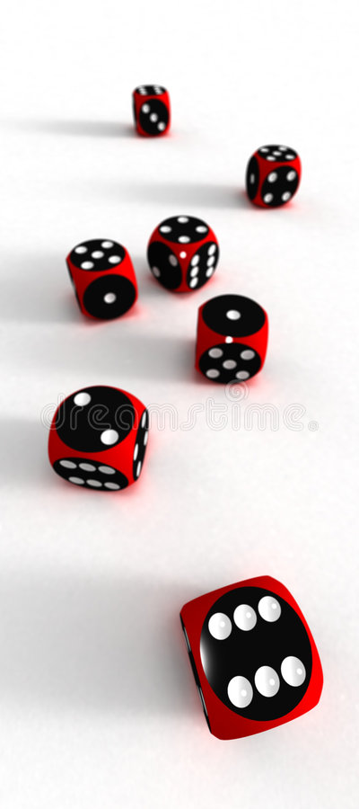 Download Seven Dices - Your Risc Royalty Free Stock Photography - Image: 1647777