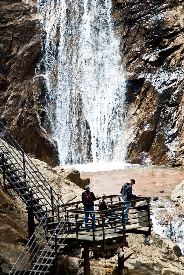Seven Falls in Colorado Springs stock photo