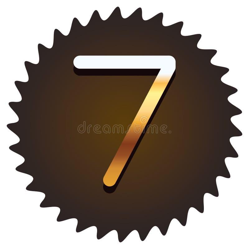 Seven font number stock illustration