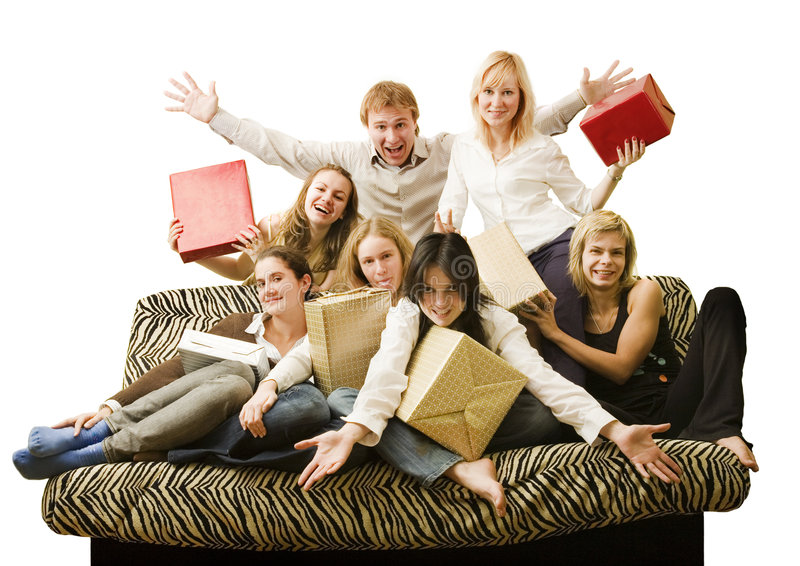 Seven Friend Royalty Free Stock Images