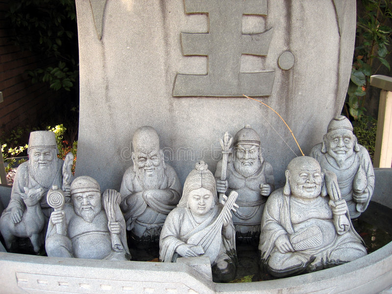 Download Seven Gods stock image. Image of fishing, statue, legend - 21321