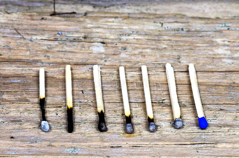 Seven matches royalty free stock image