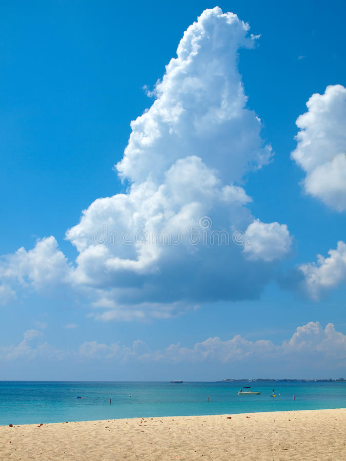 Seven Mile Beach Grand Cayman stock photo