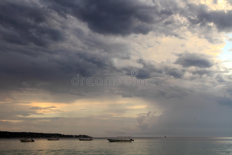 Seven mile beach. Jamaica stock images