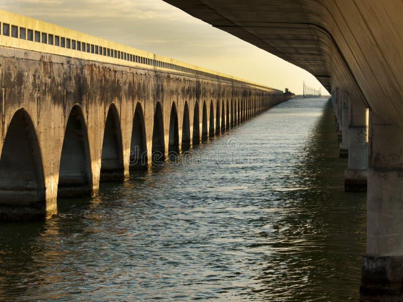 Seven Mile Bridge. The Seven Mile Bridge is a famous bridge in the Florida Keys royalty free stock photo