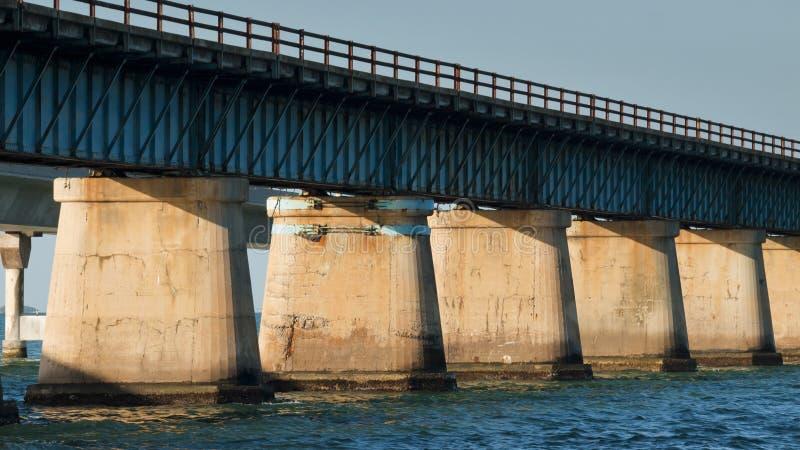 Seven Mile Bridge. The Seven Mile Bridge is a famous bridge in the Florida Keys royalty free stock photography