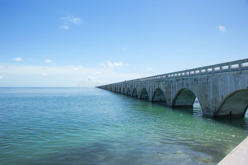 Seven Mile Bridge. The Seven Mile bridge in the Florida Keys stock image