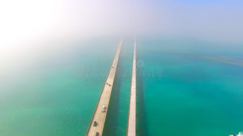 7 mile bridge. Aerial view. Florida Keys, Marathon, USA. The Seven Mile Bridge is a bridge in the Florida Keys, in Monroe County, Florida, United States stock photos