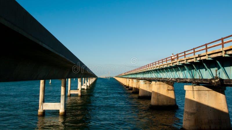 Seven Mile Bridge. The Seven Mile Bridge is a famous bridge in the Florida Keys royalty free stock image