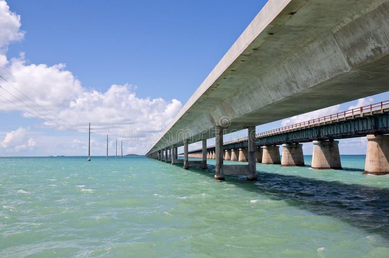 Seven Mile Bridge. Is a famous historic bridge located in the Florida Keys stock photo